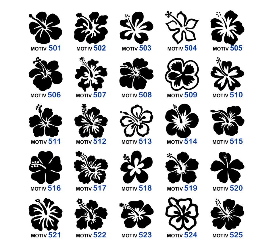 Hibiskus Blume Aufkleber Wand Tattoo Auto Lack Glas Bad Küche